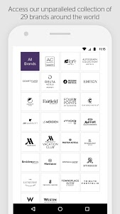 screenshot of SPG: Starwood Hotels & Resorts version 8.4.4