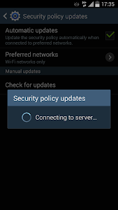 screenshot of Samsung Security Policy Update version SPD_v2_1409_2_1