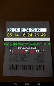 screenshot of SG TOTO 4D SWEEP version 4.8