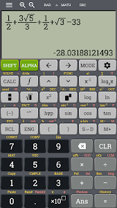 screenshot of School scientific calculator fx 500 es plus 500 ms version 3.0.5-build-10-05-2018-23-release