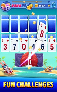 screenshot of Solitaire Showtime: Tri Peaks Solitaire Free & Fun version 8.0.0
