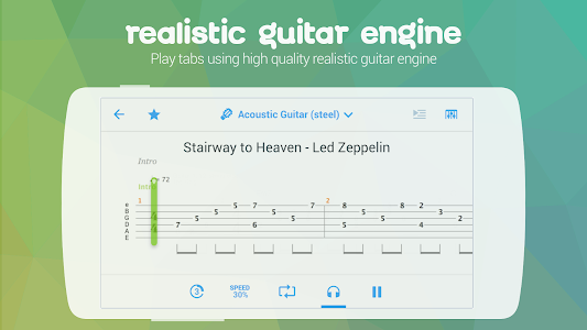 screenshot of Songsterr Guitar Tabs & Chords version 2.3.5