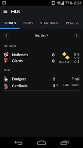 screenshot of Sportacular version Varies with device