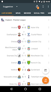 screenshot of Super Scores - Live Scores version Varies with device