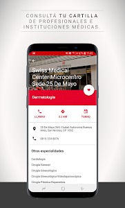 screenshot of Swiss Medical Mobile version Varies with device