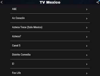 screenshot of TV México version 1.1
