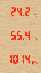 screenshot of Temperature humidity barometeF version Varies with device