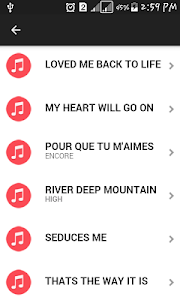 screenshot of The Best of Celine Dion version 1.2