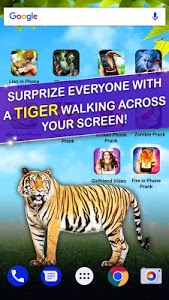 screenshot of Tiger in Phone Prank version 2.0