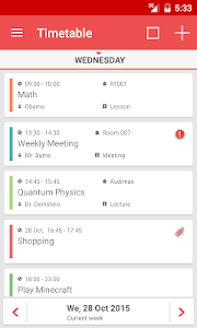 screenshot of TimeTable++ Schedule version 8.1.6