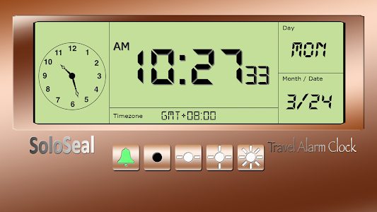 screenshot of Travel Alarm Clock version 1.69