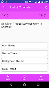 screenshot of Tutorials for Android:Examples version 1.1.5