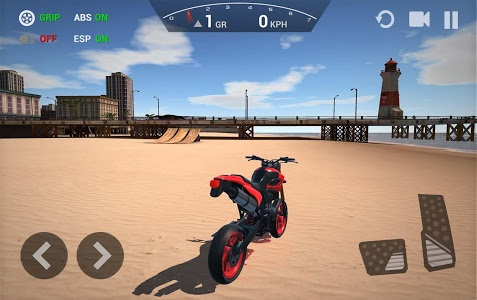 screenshot of Ultimate Motorcycle Simulator version 1.8.2