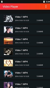 screenshot of Video Player version 1.0.2