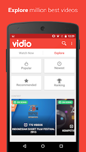screenshot of Vidio version