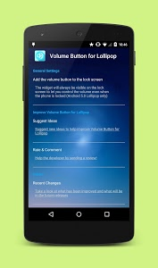 screenshot of Volume Button for Lollipop version 2.1.0