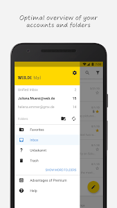 screenshot of WEB.DE Mail & Cloud version Varies with device