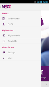 screenshot of Wizz Air version 1.7.3