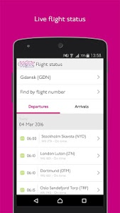 screenshot of Wizz Air version 4.6.0