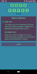 screenshot of Word Pipes: Pure Word Game Experience version 1.3.0