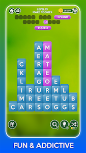 screenshot of Word Tower Puzzles version 2.5.0