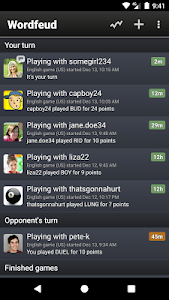 screenshot of Wordfeud Free version Varies with device
