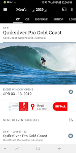 screenshot of World Surf League version 5.5.3