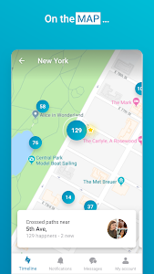 screenshot of happn – Local dating app version Varies with device