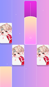 screenshot of kpop music game 2019 - Magic BTS Tiles version 1.5