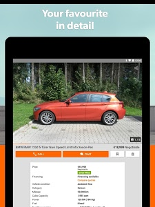 screenshot of mobile.de – Germany's largest car market version Varies with device